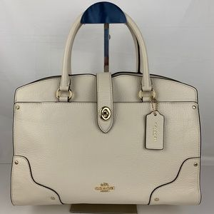 New Coach Mercer 30 Satchel in Grain Leather
